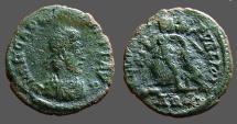 Ancient Coins - Arcadius AE4 SALVS.. Victory adv. l.  Alexandria, Egypt