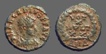 Ancient Coins - Arcadius AE4 Vows in wreath.  Antioch, Turkey