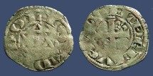 World Coins - France Feudal Deols Lords of Chateauroux Raoul VI 1160-76AD AR Denier