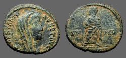Ancient Coins - Constantine I The Great AE4 Constantine veiled and standing right. Antioch.