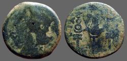 Ancient Coins - Spain, Patricia. Augustus AE31 Bare head left / Aquila between signa.