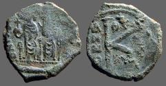 Ancient Coins - Justin II & Sophia AE18 1/2 Follis. Thessalonica