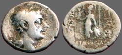 Ancient Coins - Cappadocian, Ariobarzanes I AR drachm.  Athena Nikephoros