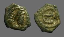 Ancient Coins - Justinian I AE pentanummium, E w. Δ