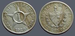 World Coins - Cuba 1920 un Centavo.