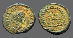 Ancient Coins - Valentinian II AE4 Vows in wreath VOT/X/MVLT/XX.  Antioch, Turkey.