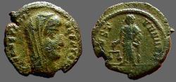 Ancient Coins - Constantine I, posthumous AE4  Aequitas standing left, holding scales