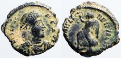 Ancient Coins - Valens AE3 SECVRITAS REIPVBLICAE  Victory adv. left.