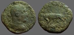 Ancient Coins - Philip I AE27 Sestertius.  She Wolf & Twins
