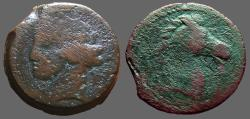 Ancient Coins - Zeugitania, Carthage AE27 Hd. of Tanit / Hd. of Horse.