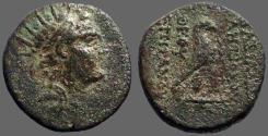Ancient Coins - Seleukid. Antiochos IV Epiphanes AE20 Eagle rt on thunderbolt