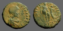 Ancient Coins - Honorius AE17 Victory crown Honorius, Antioch, Turkey