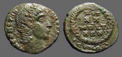 Ancient Coins - Constantius II AE4 Vows in wreath VOT/XX/MVLT/XXX. Constantinopolis