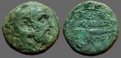 Ancient Coins - Philip V AE21 Macedon. Heakles in lion skin / Club in oak wreath