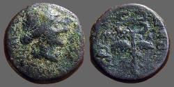 Ancient Coins - Syria, Antioch, Civic Issue.  AE18  Apollo / Winged Caduceus