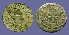 Ancient Coins - Spain, Philip IV (8) Maravedis.  Bust rt / Crowned Shield
