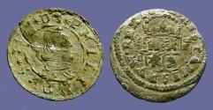 World Coins - Spain, Philip IV (8) Maravedis.  Bust rt / Crowned Shield