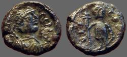 Ancient Coins - Justin I AE13 Pentanummium. VICTOR.  Cherson