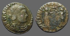 Ancient Coins - Magnentius AE18 fractional Centenionalis.  Victories holding shield VOT/X
