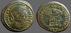 Ancient Coins - Constantine the Great AE3 Military Bust / Globe on column. VOTIS/XX