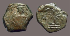 Ancient Coins - Manuel I, Comnenus: AE tetarteron, emperor facing / Cross with X at center