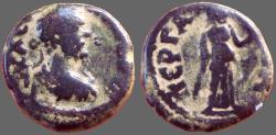 Ancient Coins - Antoninus Pius AE18 Pamphylia. Perga.  Artemis w. bow & arrow