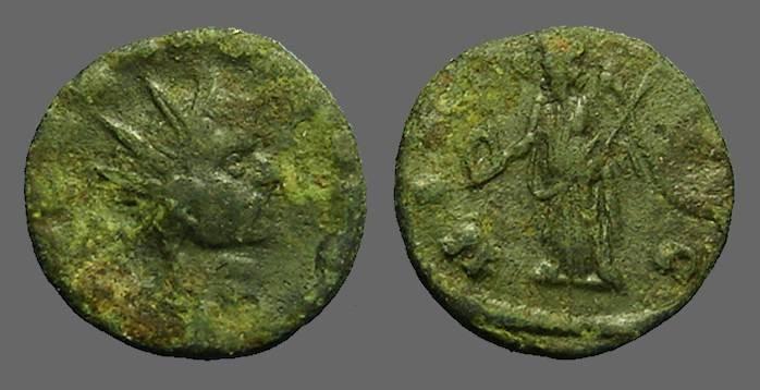 Ancient Coins - Claudius II Gothicus AE17 Antoninianus