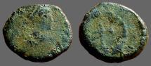 Ancient Coins - Arcadius AE11 Nummus, Cross in wreath. Antioch