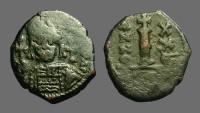 Ancient Coins - Maurice Tiberius AE21 Decanummium, year 20.