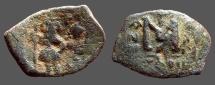 Ancient Coins - Heraclius & Heraclius Constantine AE23 follis, Constantinople.