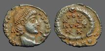 Ancient Coins - Constans AE3 Vows in wreath. VOT/XV/MVLT/XX.  Antioch, Turkey