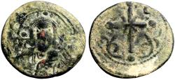 Ancient Coins - Nicephorus III AE23 follis, Bust of Christ facing / Latin Cross