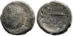 Ancient Coins - Lydia, Philadelphia AE14 Macedonian shield / Thunderbolt in wreath