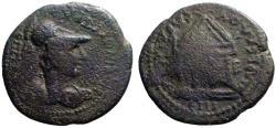 Ancient Coins - Lydia, Sardes  AE20 Pseudo-autonomous. Athena / Tetrastyle temple