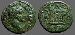 Ancient Coins - Severus Alexander AE19 Octastyle temple.  Nikomedia