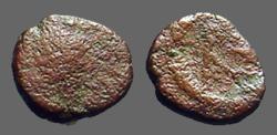 Ancient Coins -  Anastasius I AE8 Nummus.  Monogram   491-518 AD.