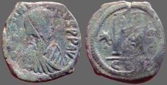 Ancient Coins - Justin I AE28 Follis.  Constantinople.