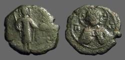 Ancient Coins - Manuel Comnenus I AE17 1/2 Tetarteron. Christ / Manuel Stg.