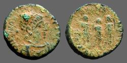 Ancient Coins - Honorius AE3/4 Theodosius II, Aracadius, Honorius stg.   Antioch, Turkey