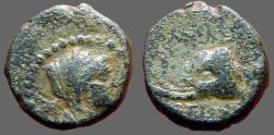Ancient Coins - Seleukid,  Seleucus IV AE15, Elephant hd left.