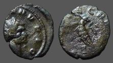 Ancient Coins - Claudius II Gothicus billon antoninianus.  Eagle w. wings open.  CONSECRATIO