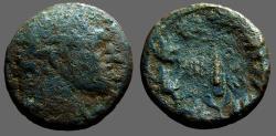 Ancient Coins - Phoenicia, Tyre. AE20  Melqart / Club within wreath