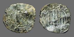 """World Coins - Alfonso XI. """"el Justiciero"""", billon denaro. 1312-1350 AD."""
