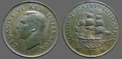 World Coins - Britain George VI AE30.5 South Africa 1939