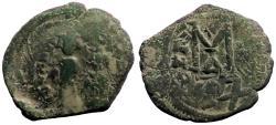 Ancient Coins - Heraclius & Heraclius Constantine AE32 Follis.  Constantinople