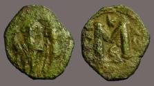 Ancient Coins - Constans II & Constantine IV AE18 Follis