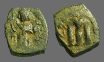 Ancient Coins - Constans II AE22 Follis, SB#1000. aVF for type.