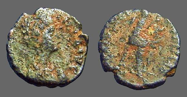 Ancient Coins - Aelia Flaccilla AE4  Salvs Reipvblice, Victory seated right, inscribing shield