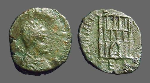 Ancient Coins - Honorius AE4 Campgate.  Constantinople