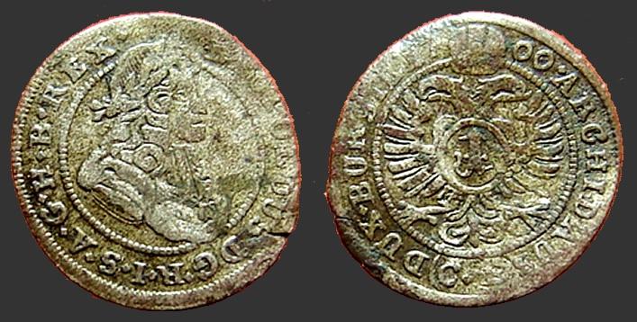 World Coins - Austria, Leopold I, the Hogmouth AR15 (1) Kruezer 1700